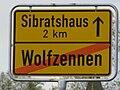 D-BW-Eriskirch-Wolfzennen - Ortsschild a091.JPG