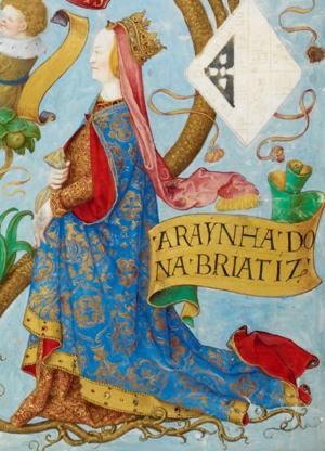 Beatrice of Castile (1242–1303) - Beatrice of Castile, in Antonio de Hollanda's Genealogy of the Royal Houses of Spain and Portugal (1530–1534)