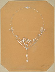 Design drawing for a Necklace