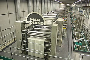 Manroland - Web-fed offset lithographic press at speed