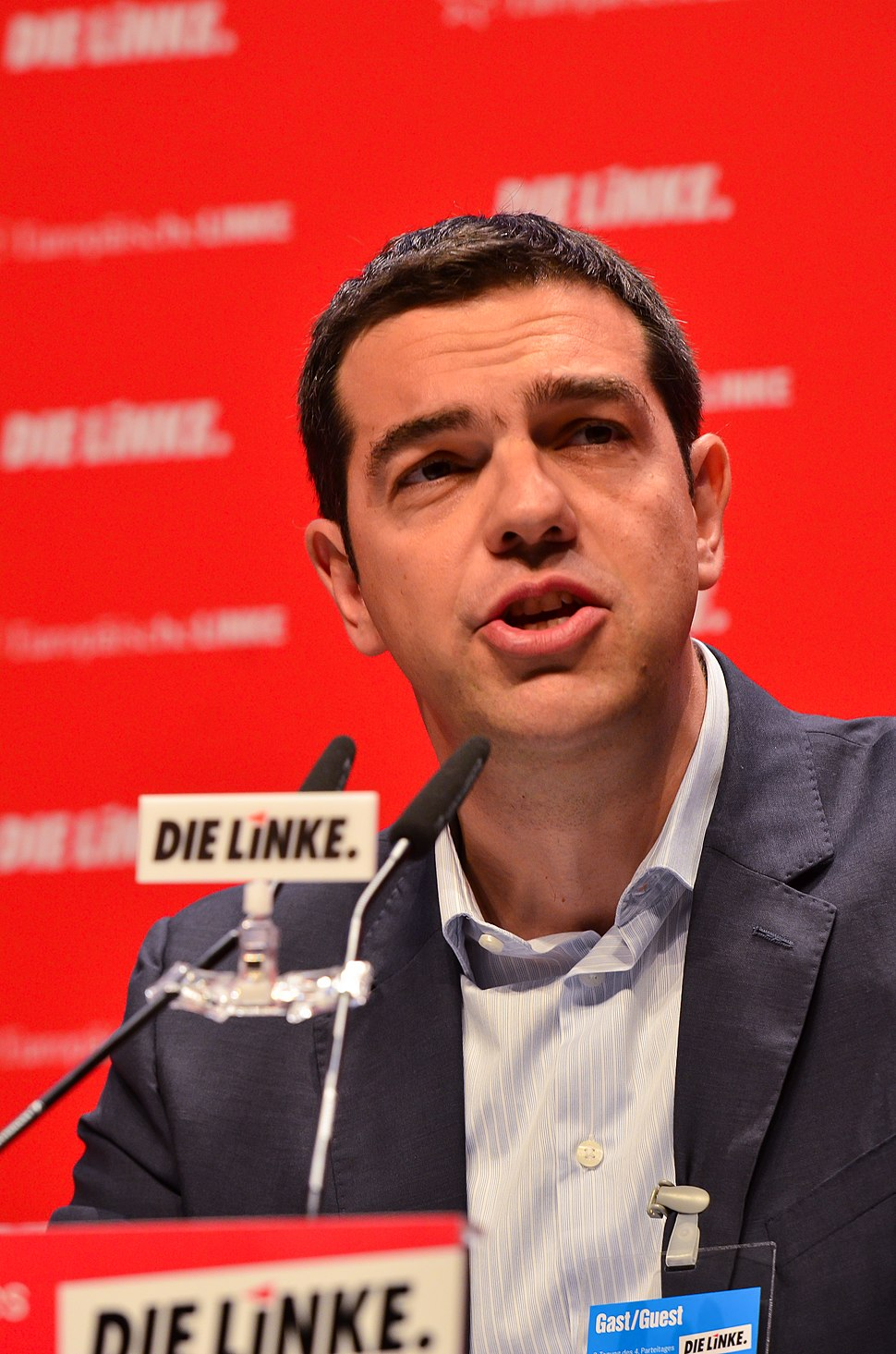 DIE LINKE Bundesparteitag 10. Mai 2014 Alexis Tsipras -7