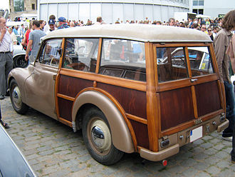 DKW F89 - The estate conversion, offered from late 1951, made extensive use of timber.