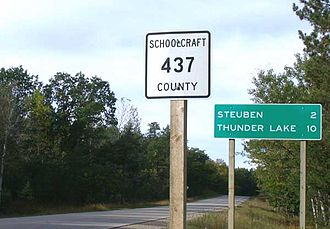 County highway - Another standard style of county highway shield from Schoolcraft County, Michigan, used in some U.S. states