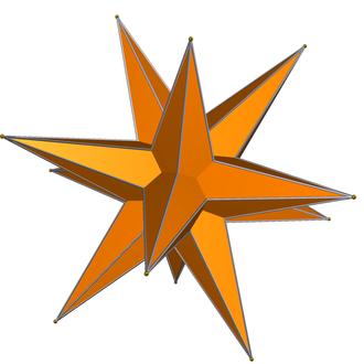 Great triambic icosahedron - Image: DU41 medial triambic icosahedron