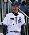 Daisuke Miura, pitcher of the Yokohama BayStars, at Yokohama Stadium.JPG