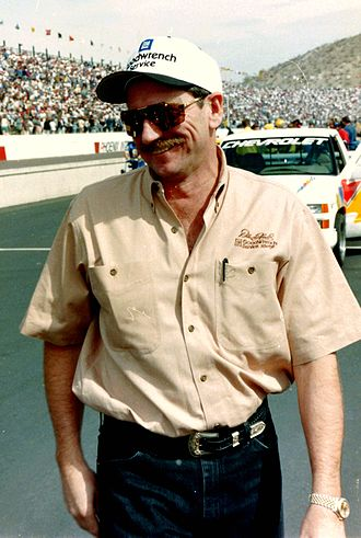 Dale Earnhardt - Earnhardt at Phoenix International Raceway.