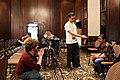 Daniel Bogre Udell interviewing Malayasian Wikimedian at Wikimania 2018, Cape Town (42972550554).jpg