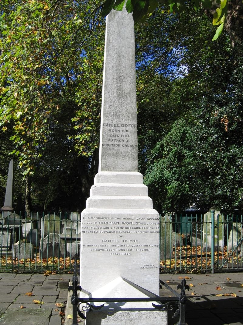 Daniel Defoe monument Bunhill Fields