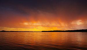 Bemm River, Victoria - Sunset over Sydenham Inlet