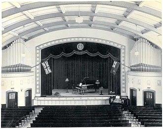 University of Regina - Stage inside Darke Hall, circa 1930