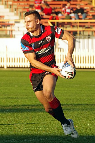 North Sydney Bears - Darren Nicholls playing for the North Sydney Bears in the New South Wales Cup