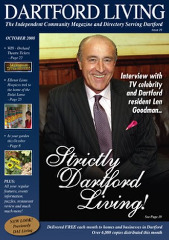 Len Goodman - Len Goodman on the cover of Dartford Living, October 2008