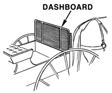 diagram of a carriage dash board