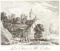 David Teniers - Landscape with Peasants before a Castle engraved by Jacques Couché codecent00poul 0223.jpg