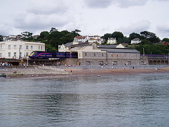 Riviera Line - Dawlish station stands right on the beach