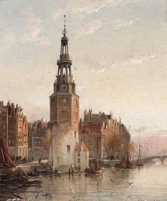 Cornelis Christiaan Dommersen - Image: De Montelbaanstoren te Amsterdam Cornelis Christiaan Dommersen