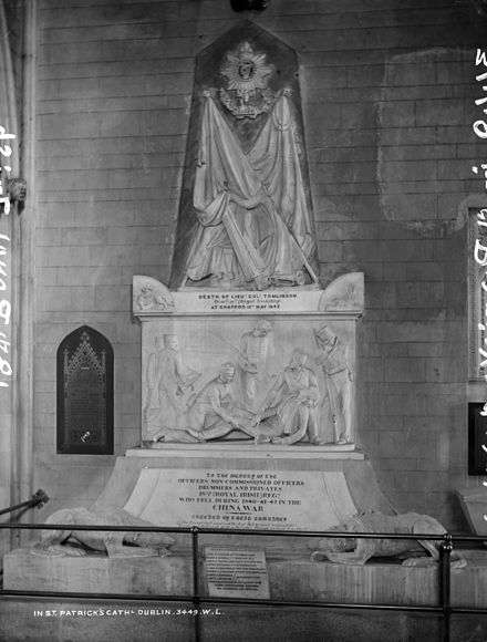 Royal Irish Regiment memorial in St Patrick's Cathedral, Dublin, c.1900 Death at Chappoo.jpg