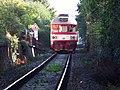 Dejvice, vlak, od přejezdu P6 k přejezdu P5.jpg