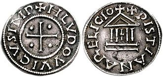 Coins of the Indian rupee - denier of Louis.