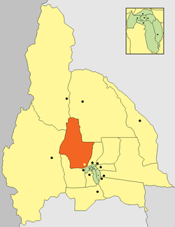Location of Ullum Department in San Juan Province
