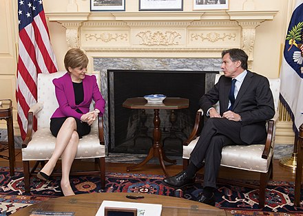 US Deputy Secretary of State Antony Blinken meets with Nicola Sturgeon at the US Department of State in Washington, D.C., on 10 June 2015 Deputy Secretary Blinken Meets With Scottish First Minister Sturgeon (18490445358).jpg