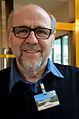 """Der Wikipedia-""""Benutzer"""" und Wikimedia-Commons """"User"""" RudolfSimon auf der WikiCon 2013 in Karlsruhe im Foyer vom Studentenhaus, Karlsruher Institut für Technologie.jpg"""