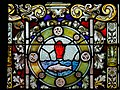 Derry Guildhall Tercentenary Window of The Honourable The Irish Society Detail Arms of O'Neill 2019 08 29.jpg