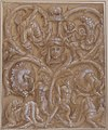 Design for an Ornamental Panel with Rinceaux, Satyrs, Putti, Monsters and a Human Head. MET 1971.513.30.jpg
