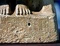 Detail, headless statue dedicated to the Sumerian deity Ningishzida, 2600-2370 BCE. Iraq Museum.jpg
