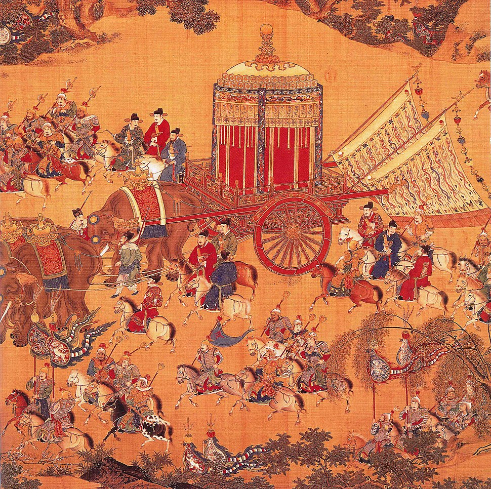 Detail of The Emperor%27s Approach, Xuande period