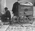 Detalle del carruaje laboratorio del fotógrafo J. Laurent en el año 1872, en Valladolid, España.tif