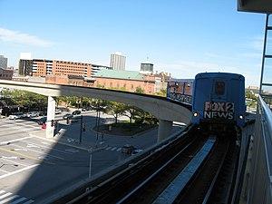 Transportation in metropolitan Detroit - The People Mover enters the Renaissance Center station.
