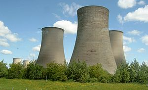 Cooling tower - Natural draft wet cooling hyperboloid towers at Didcot Power Station (UK)