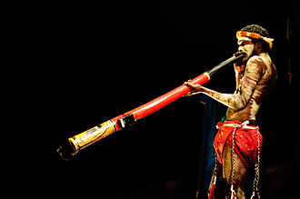 Didgeridoo - An Aboriginal man playing the didgeridoo