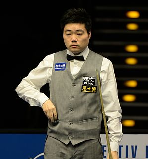 Ding Junhui Chinese professional snooker player, three-time UK champion, and 2011 Masters champion