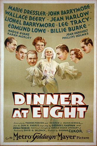Dinner at Eight (1933 film) - Theatherical Poster