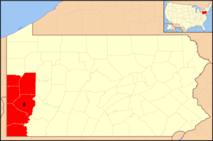 Roman Catholic Diocese of Pittsburgh - Image: Diocese of Pittsburgh map 1