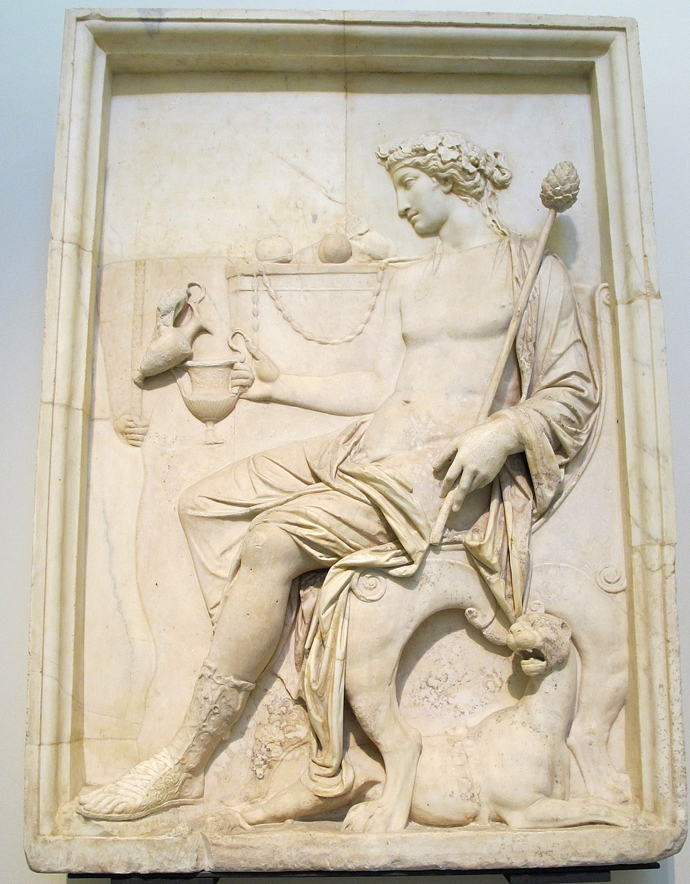 Dioniso seduto, officina neoattica, I sec dc, 6728