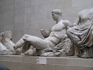 Reclining Dionysos, from Parthenon east pedime...