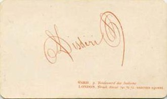 André-Adolphe-Eugène Disdéri - Image: Disderi, Adolphe Eugène (1810 1890) Marchio di fabbrica