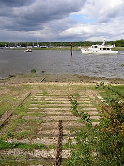 Disused slipway at Bucklers Hard - geograph.org.uk - 177038
