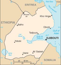 Gibuti - Mappa