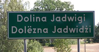 Sierakowice, Pomeranian Voivodeship - Bilingual Polish/Kashubian sign near Sierakowice