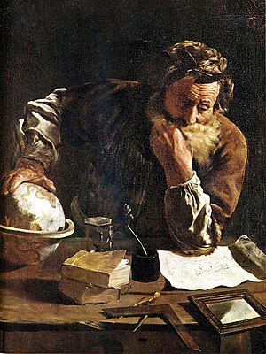 History of physics - The ancient Greek mathematician Archimedes, famous for his ideas regarding fluid mechanics and buoyancy.