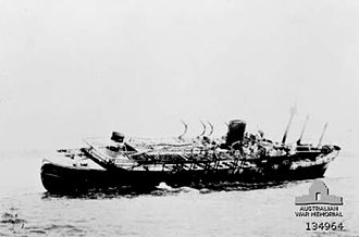 Don Isidro (1939) - Don Isidro beached and abandoned aground near Melville Island.