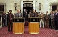 Donald Rumsfeld with Hamid Karzai in 2003.jpg