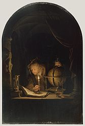 Gerrit Dou: Astronomer by Candlelight