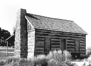 National Register of Historic Places listings in Harney County, Oregon - Image: Double O Ranch cabin, Harney County, Oregon