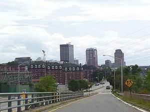 Manchester, New Hampshire - View of downtown from the north