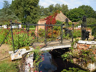 Mannington Hall - Image: Draw Bridge across Moat Mannighton Hall 31 August 2014